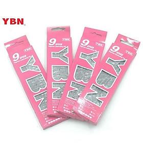 Xích xe đạp chuyên dụng YBN 9 speed bạc