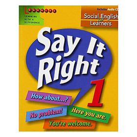 Say It Right 1 With Audio CD