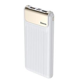 Pin dự phòng 02 cổng USB/ Đèn LED/10000 mAh/QC 3.0 - Baseus Thin Digital  - Hàng Chính Hãng