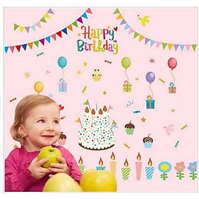 Decal dán tường chúc mừng sinh nhật cho bé DCCMSN001