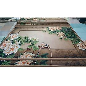 Thảm trang trí trải sàn Sofa phòng khách sang trọng hiện đại Bali in 3D Nhung nỉ lì cao cấp BL41 - Đa Giác Cam