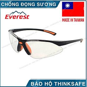 Kính bảo hộ Everest EV301 kính chống bụi, chống trầy xước, chống tia UV, chống đọng sương (trắng trong suốt) - Safety Spectacles EV301