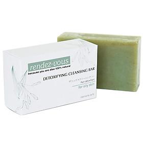 Xà Phòng Rửa Mặt Đất Sét Xanh 100% Thiên Nhiên rendez-vous Detoxifying Cleansing Bar 100g (Dành cho da dầu)