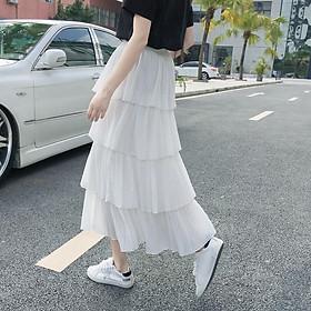 Chân váy 4 tầng dài
