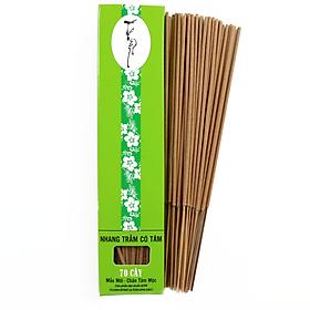Nhang Thiền- Nhang Trầm Hương Đặc Biệt 20cm-40g( 65 cây) Chân Tăm Mộc 100% Tự NHiên