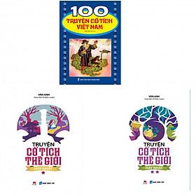 Combo 100 truyện cổ tích Việt Nam, truyện cổ tích thế giới hay nhất (tặng kèm 3 bút bi hình)