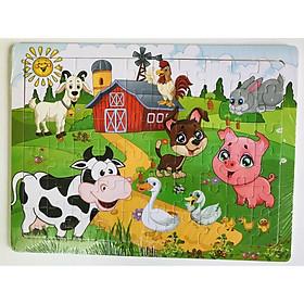 Tranh ghép hình 60 mảnh - Combo 3 tranh gỗ ghép hình Gnu Kids