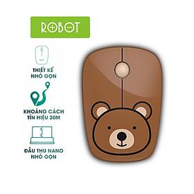 Chuột Quang Không Dây 2.4GHz ROBOT M220 Khoảng Cách Tín Hiệu 20m [Hàng Chính Hãng]