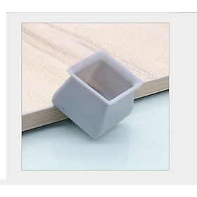 4 Vỏ bọc chân bàn ghế silicon dày hình vuông, miếng silicon dày bọc chân bàn ghế chống trượt [tặng móc dán tường]