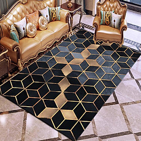 Nordic Style Geometric Printing Carpet for Home Living Room Bedside Rugs