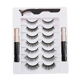 Magnetic Eyelashes with Eyeliner 7 Pair Magnetic Eyelashes and Eyeliner Eyelashes with Natural Look Comes with