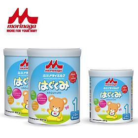 Combo 2 hộp sữa số Morinaga số 1 Hagukumi 850gr + 1 hộp sữa Morinaga số 1 cùng loại 320gr