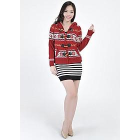 Áo Len Nữ Lót Lông Hoa Tuyết H575 - (Free Size)