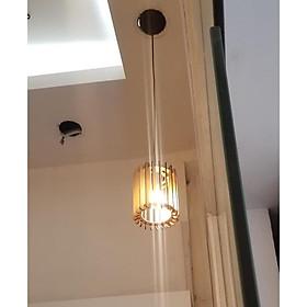 Đèn gỗ diy thả trần trụ tròn
