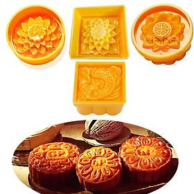 Bộ 4 Khuôn Làm Bánh Trung Thu , Bánh Dẻo , Xôi Nén , Bánh Bột Truyền Thống