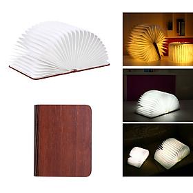 Folding Book Lamp Portable Desk Night Light Book LED Paper Lantern USB Rechargeable 3 Color Light