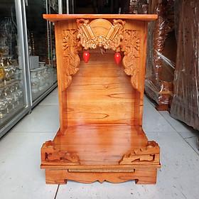 Bàn thờ thần tài ông địa gỗ xoan ngang 35 cm