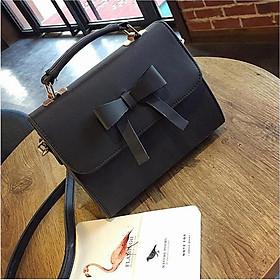 Túi nữ đeo chéo thời trang thắt nơ sang trọng quý phái VBA758 màu đen