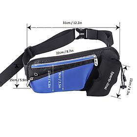 Unisex Waist Bag Waterproof Large Capacity Adjustable Strap Zipper Reflective Stripe Climbing Hiking Sports Bag Waist-7