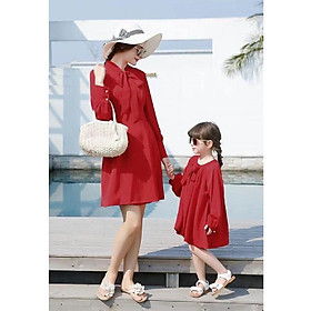 Đầm Xòe Phối Nơ Mẹ Và Bé