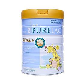 Sữa bột công thức PureLac nhập khẩu New Zealand hộp 800gr cho bé từ 06 đến 12 tháng