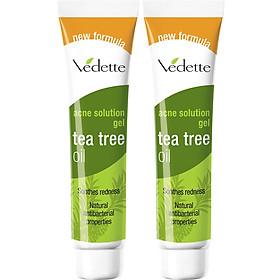Combo 2 Gel Giảm Mụn Vedette Tràm Trà (Tea Tree Oil) - Tube 18g