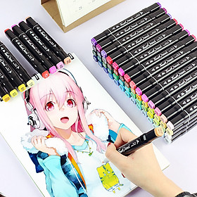 Bút Màu Marker Cao Cấp - Túi Vải Bộ 30/40/60/80 Màu Vẽ Chuyên Nghiệp - Vẽ Anime, Truyện Tranh Manga, Phong Cảnh, Thiết Kế Thời Trang, Đồ Họa, Mỹ Thuật Công Nghiệp - Hàng Chính Hãng - VinBuy