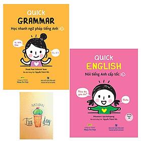 Combo Quick Grammar – Học Nhanh Ngữ Pháp Tiếng Anh và Quick English – Nói Tiếng Anh Cấp Tốc  ( Tặng Kèm Sổ Tay )