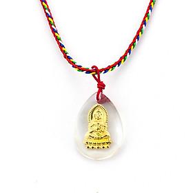 Dây chuyền Phật Quan Âm giọt nước pha lê