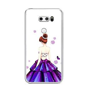 Ốp lưng dẻo cho điện thoại LG V30 - 0100 GIRL06 - Hàng Chính Hãng