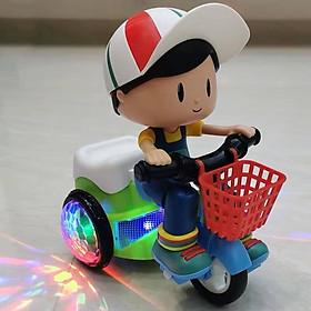 Xe đạp xoay 360 độ kèm nhạc đồ chơi cho bé