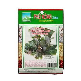 Hạt giống tía tô Phú Nông PN-200 (2g/gói) | Perilla PN-200 | Lá to, mặt trên xanh, dưới tím