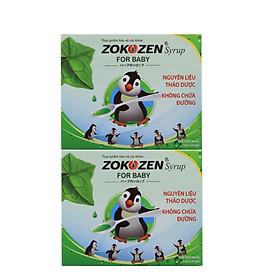 Combo 2 hộp Thực phẩm bảo vệ sức khỏe Thảo dược giảm ho cho trẻ em ZOKOZEN SYRUP FOR BABY