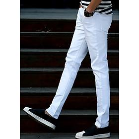 Quần nam kaki phong cách thời trang, style trẻ trung năng động-123 Trắng