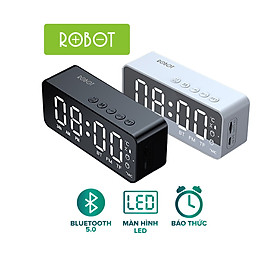 Loa Bluetooth 5.0 ROBOT RB150 Màn Hình LED Kiêm Đồng Hồ Báo Thức - Hỗ Trợ Cổng AUX Thẻ Nhớ-Hàng chính hãng