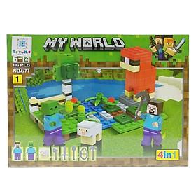 Bộ Xếp Hình - My World - 677 (Li62) - Mẫu 1 (116 Mảnh Ghép)