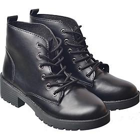 Giày Bốt Boot Nữ Da Cao Cấp Đế 5p Buộc Dây BT2