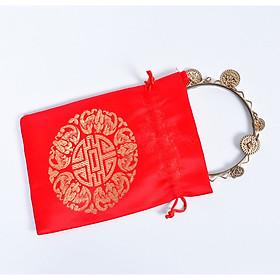 Combo 10 Túi gấm màu đỏ Thượng Hải phong thủy TÀI LỘC VÀ MAY MẮN _PCCB MINGT