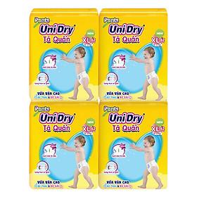 Combo 4 Tã Quần Unidry Ultra Jumbo XL62 (62 Miếng)