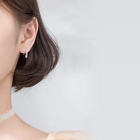 Khuyên Tai Bạc Nữ Đơn Giản HÌnh Móc Câu B2618 - Bảo Ngọc Jewelry
