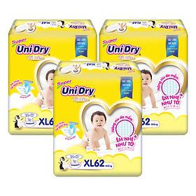 Combo 3 Tã Dán Cho Bé UniDry (G6+) size XL62 (62 Miếng)-0