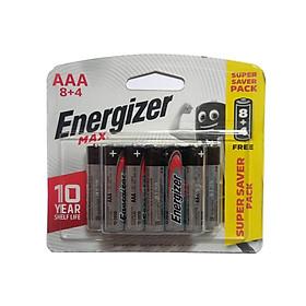 Pin Max 8 + 4 Viên Energizer E92 BP8+4 AAA - Hàng Chính Hãng Model 2020