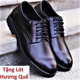 Giày da nam Cao Cấp Đế Cao Su (Tặng lót Hương Quế)