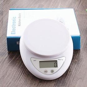 Cân điện tử mini nhà bếp, cân thực phẩm nguyên liệu làm bánh, trà sữa tặng kèm móc treo siêu dính 10kg