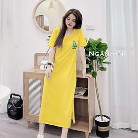 váy suông nữ dáng dài cộc tay LA đan lưng 3 màu