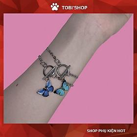 Vòng tay nữ bươm bướm tím - xanh xinh xắn giá rẻ hot TB247 - TOBI'SHOP