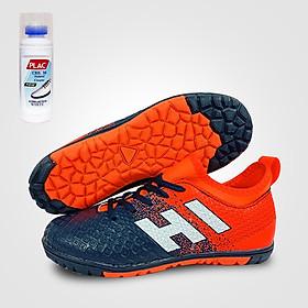 Giày đá bóng trẻ em EBET 6300 Đỏ phối navy - Tặng bình làm sạch giày cao cấp