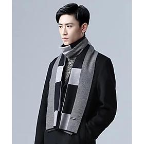 Khăn choàng nam cao cấp thời trang Hàn Quốc màu sọc xám dn19121523