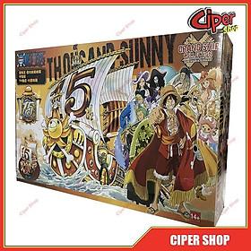 Loại 16cm - Mô hình thuyền tàu Thousand Sunny 15th one piece tau sunny - Figure One Piece