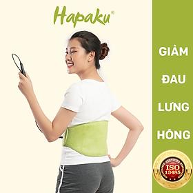 Bộ đai chườm nóng thảo dược giảm đau lưng bụng dùng điện - Hapaku